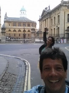 Amy & I being silly at Oxford University
